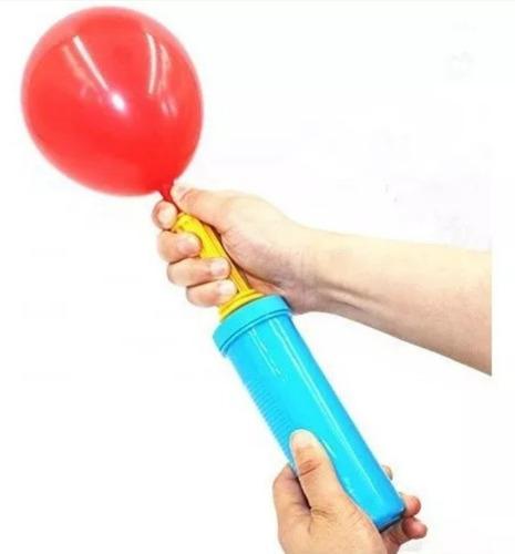 bomba para globos de doble acción inflador aire