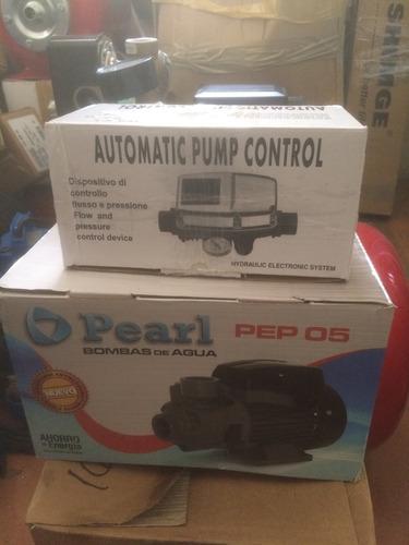 bomba pearl 0,5 hp & presscontrol voltaje dual dps5. combo .