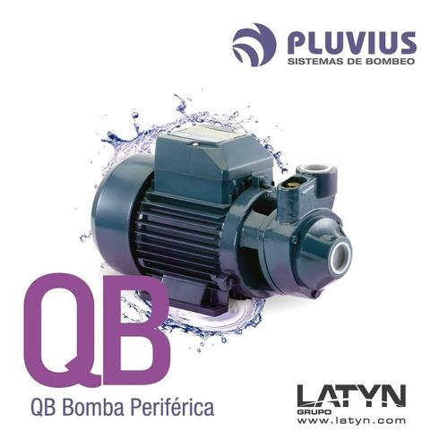 bomba periférica 3/4 hp elevadora agua 42 mts pluvius qb70
