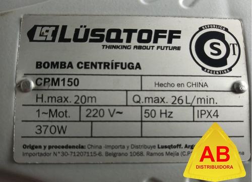 bomba periferica centrifuga 1/2 hp lusqtoff 2 años garantia