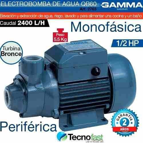 bomba periferica extraccion 1/2hp gamma qb60 tecnofast