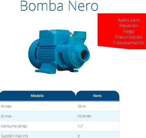 bomba periferica fluvial 1/2 hp elevadora de agua 33 metros