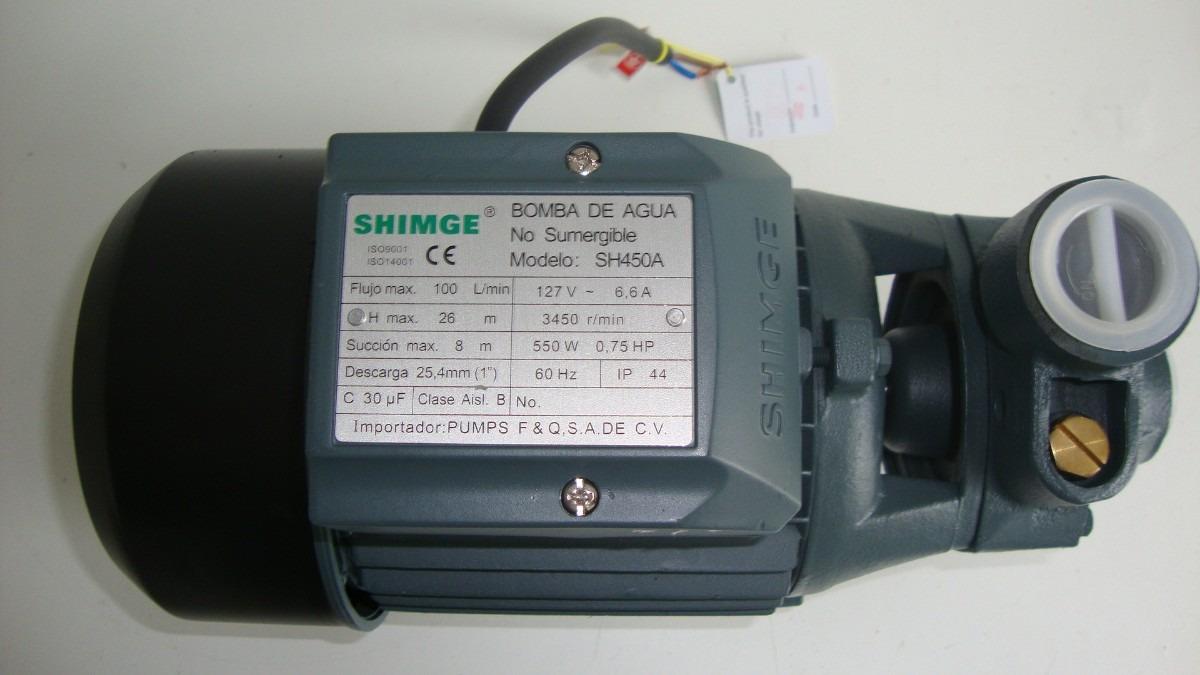 Bomba perif rica shimge sh250a de 1 2 hp 1 en - Bomba de agua precio ...