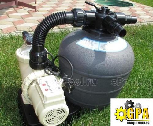 bomba piscina + filtro + timer=equipo completo g p a maquina