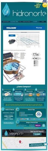 bomba piscina pileta vulcano 3/4 hp s2000 -bae