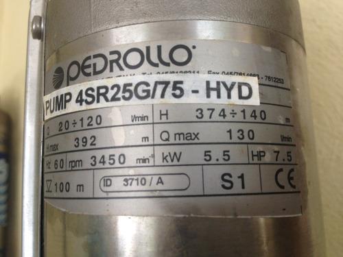 bomba pozo profundo caprari 7,5 hp, 230 v0ltios, trifasica.
