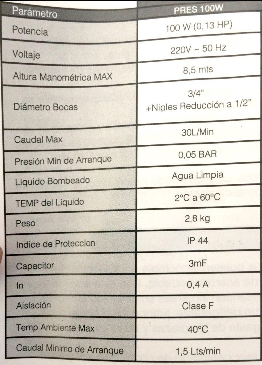 Bomba Presurizadora 260w Mayor Presion Baño Cocina Ducha - $ 2.599 ...