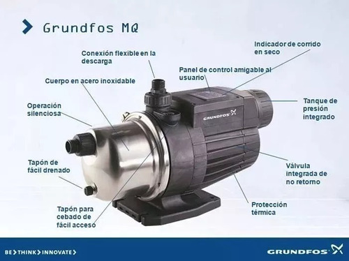 bomba presurizadora grundfos mq 3-45 hasta 6 baños