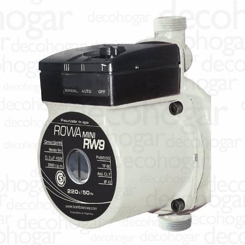 bomba presurizadora rowa mini 9 presion caudal 1 baño cuotas