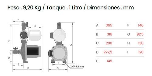 bomba presurizadora rowa tango press 20 mas presión 2 baños