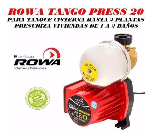 bomba presurizadora rowa tango press 20 mas presion mas agua