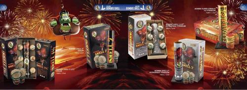 bomba shell 2 pul - fuegos artificiales - fuegolandia