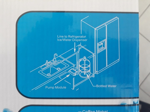 bomba singflo para agua y hielos de refrigerador duplex