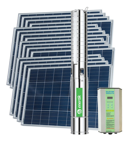 bomba solar sumergible centríf. bssc4-53-1000-110v + paneles