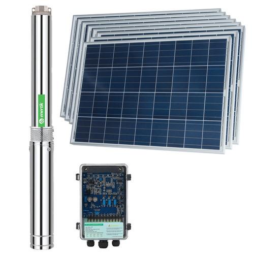 bomba solar sumergible centrífuga bsc4-40-500-48v + paneles