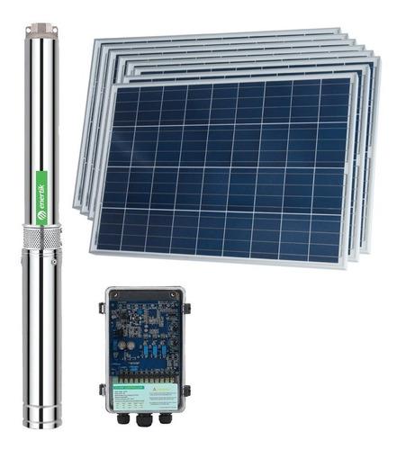 bomba solar sumergible centrífuga bsc4-70-500-48v + paneles