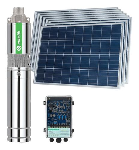 bomba solar sumergible centrífuga bssc4-62-500-48v + paneles