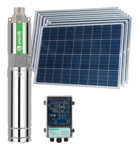 bomba solar sumergible helicoidal bss3-100-500-48v + paneles