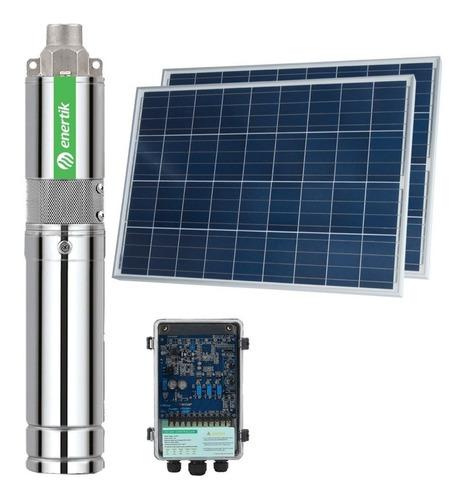 bomba solar sumergible helicoidal bss3-55-120-24v + paneles