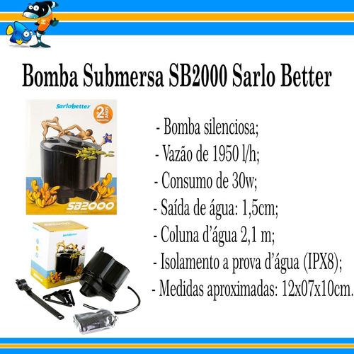 bomba submersa sarlo sb2000 sb-2000 sb 2000 sarlo better