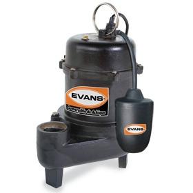 bomba sumergible agua sucia 0.6 hp evans achique oferta