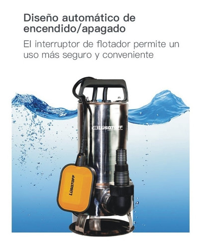 bomba sumergible agua sucia limpia lusqtoff acero inox 750w