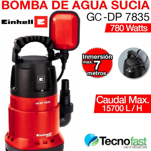 bomba sumergible desagote agua sucia einhell gc dp 7835