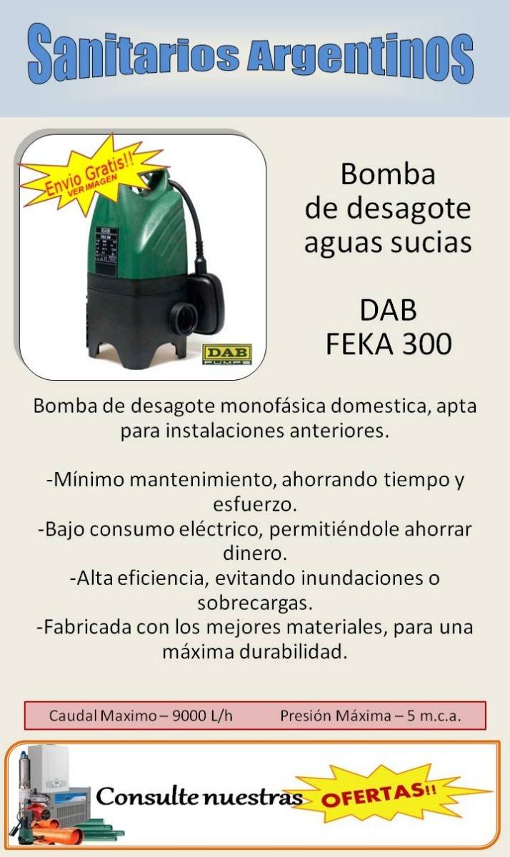 Bomba Sumergible Desague Cloacal Dab Feka 300 Envíos Gratis ...