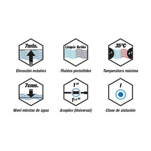 bomba sumergible ekkon 1hp desagote agua sucia portatil