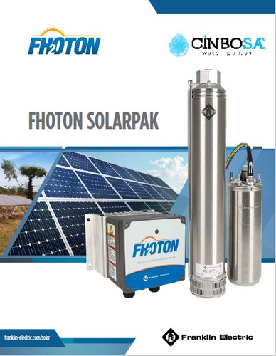 bomba sumergible franklin electric fhoton solarpak 0.75 hp
