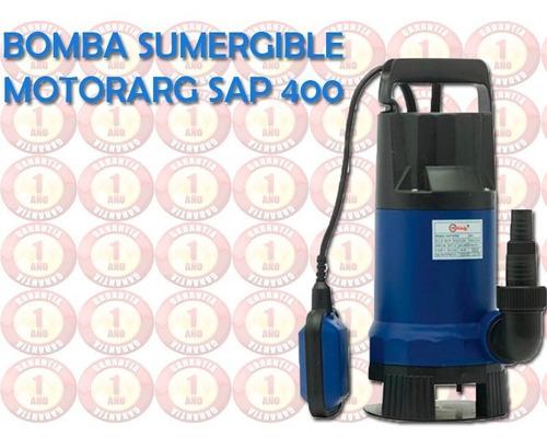bomba sumergible motorarg sap 400 agua limpia