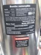 bomba sumergible para agua sucia 1 1/2 hp marca truper