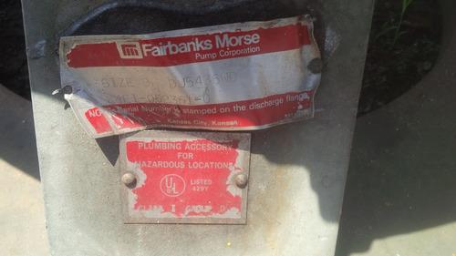 bomba sumergible para agua sucia fairbanks 10 x 8 pulgadas