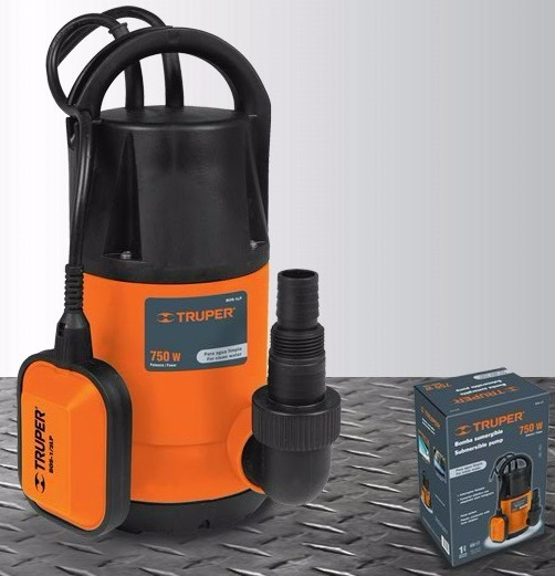 bomba sumergible truper para agua limpia 1 hp. Black Bedroom Furniture Sets. Home Design Ideas
