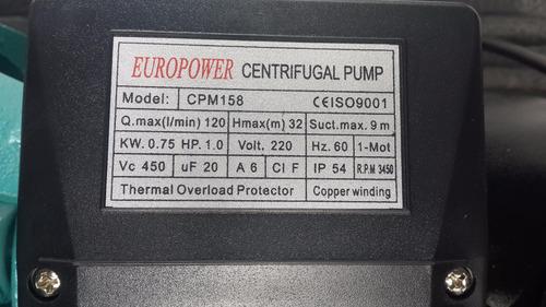 bomba tpi 1hp cmp158 (con impulsor de bronce) 110v o 220v 60