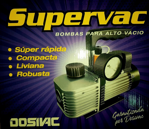bomba vacío dosivac vp2 supervac 117lts c/ vacuometro cuotas