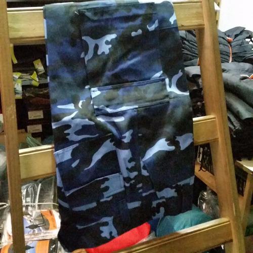 bombacha cazadora camuflada de gabardina. varios colores.