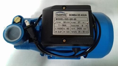 bombadeaguaperiferica 1/2hp370watts 110 60hz isonic