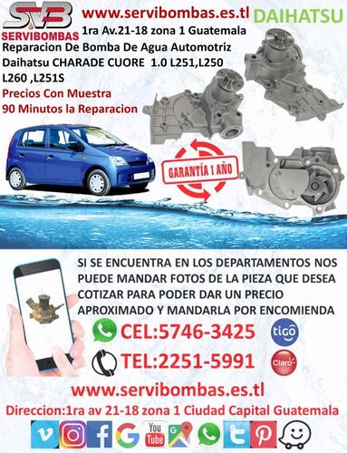 bombas de agua automotrices daihatsu sirion 1.3,1.5 guatemal