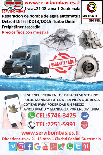 bombas de agua automotrices detroit  serie 71 guatemala