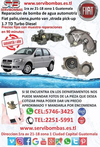 bombas de agua automotrices fiat palio 1.7 guatemala