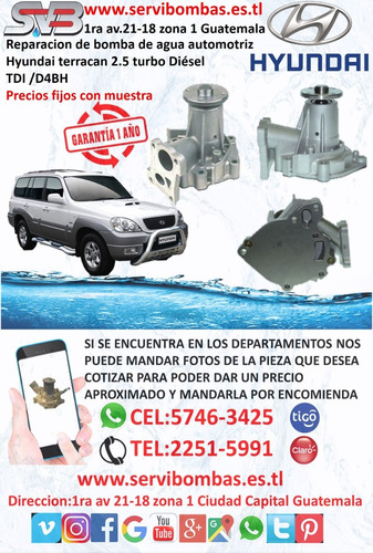 bombas de agua automotrices hyundai grand i10 1.2