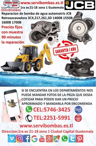 bombas de agua automotrices jcb 3cx,217,261 guatemala