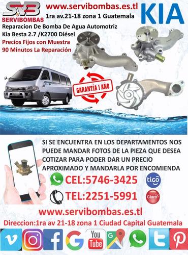 bombas de agua automotrices kia bongo 3 2.9 guatemala