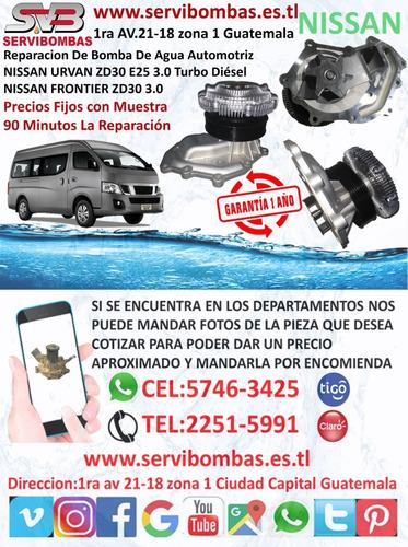 bombas de agua automotrices nissan td27,qd32 d21 turbo picku