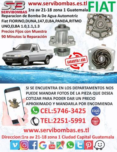 bombas de agua automotriz fiat palio siena 1.3,1.6 guatemala