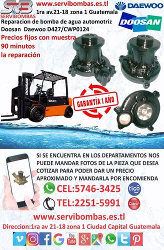 bombas de agua doosan daewoo dx300lc,dx380lca guatemala