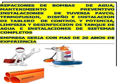bombas de agua para casa,edificio, instalaciones,reparacion
