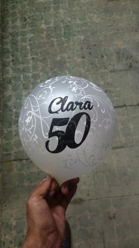 bombas estampadas (x50 unid) globos personalizados