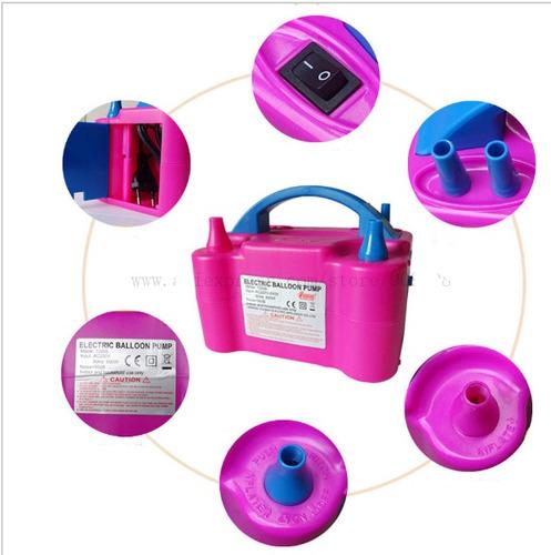 bombas inflador de globos electrico doble boquilla bomba